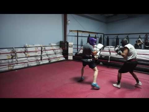 Sparring session at Bakersfield Boxing and Fitness Club