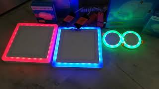 Đèn led âm trần viền đổi màu, và đèn lốp vuông nổi viền đổi màu nhà em lại về nhiều. Lh:0394046338
