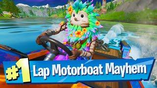 Complete a lap at Motorboat Mayhem Location - Fortnite Battle Royale