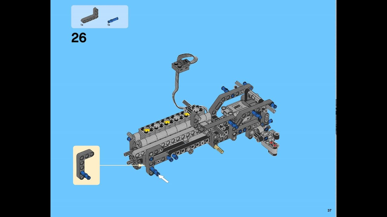 bauanleitungen lego 42043 mercedes benz arocs 3245 42043. Black Bedroom Furniture Sets. Home Design Ideas