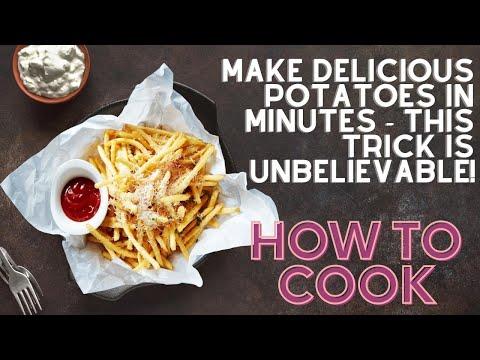 Жарим отварной картофель, вкусно и быстро