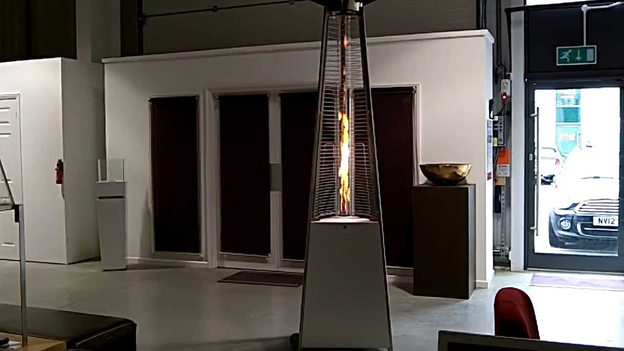 falo glass tube high flame designer patio heater