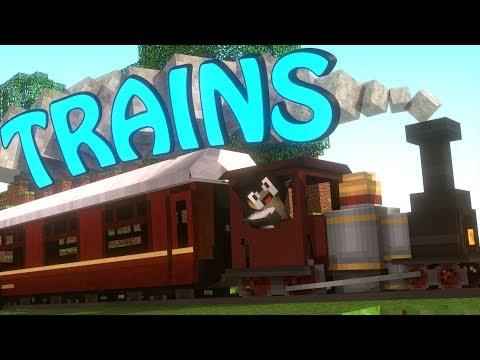 Minecraft | TRAIN MOD Showcase! (Trains Mod, Train Mod, Vehicles)