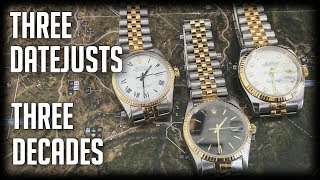Three Rolex Datejust From Three Different Decades