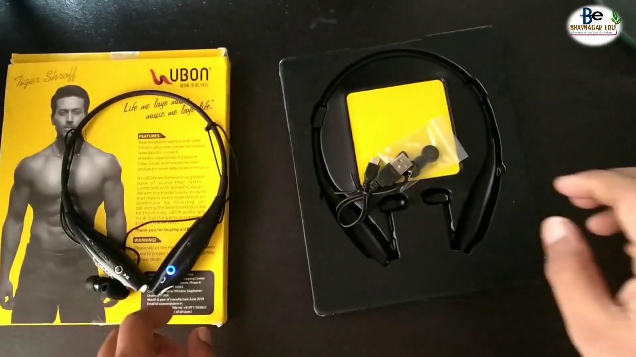 Ubon Neckband Bt 5710 Bluetooth Headset With Mic Youtube