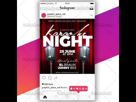 Karaoke Night - Social Media Video Template for Instagram