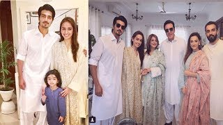 Momal Sheikh and Shahzad Sheikh with their Families on Eid Day