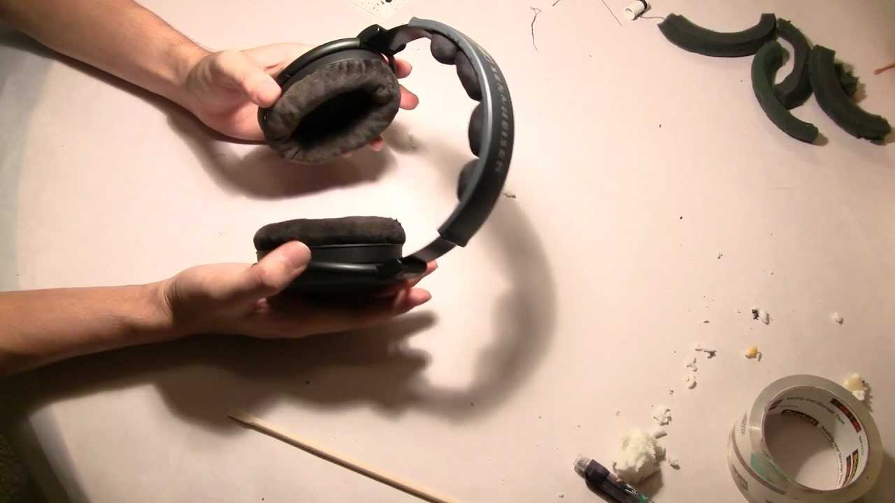 How to install memory foam in Sennheiser HD 580 ear pads   head pad (600 9c1745dad6a3b