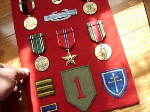 WW2 Decorations Award Collection Metals Badges Patches 79th Div Bronze Star