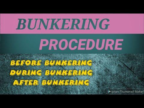 bunkering procedure   during