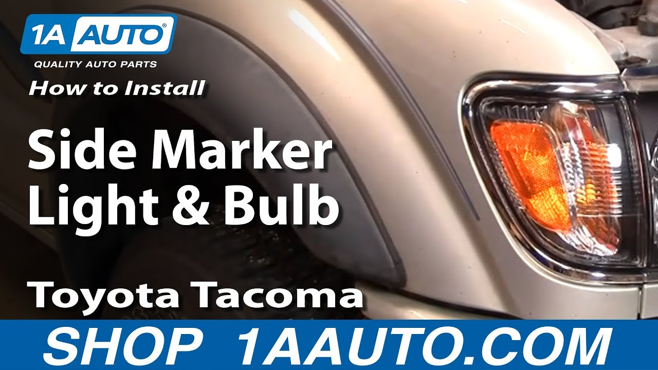 How To Install Replace Side Marker Light And Bulb Toyota