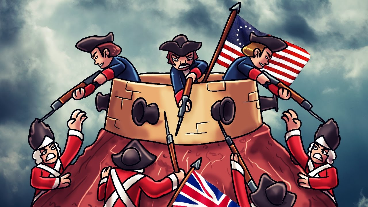 minecraft good vs evil battle of bunker hill great britain minecraft good vs evil battle of bunker hill great britain vs patriots