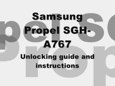 How to unlock Samsung Propel SGH-A767 Cingular AT&T Rogers Fido free SIM code