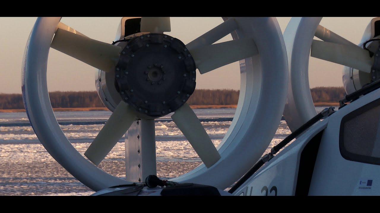 New hovercraft on lake Peipsi, Estonia