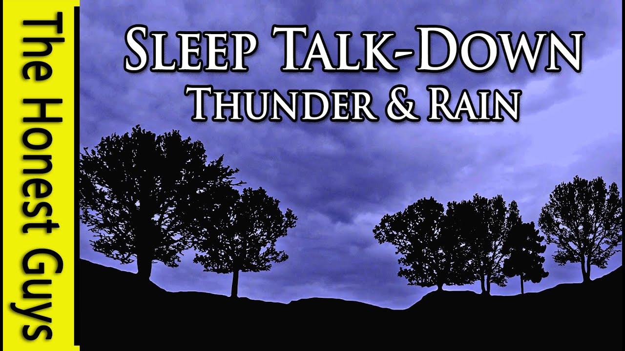 Spoken Sleep Talk Down To Thunder Rain With Lightning Flash Simulator Insomnia Meditation