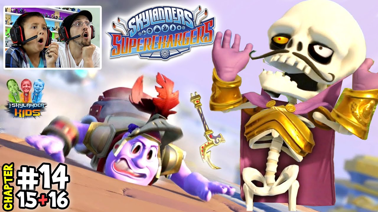 Lets Play SKYLANDERS SUPERCHARGERS Chapter 14, 15, 16:  Land of the Undead |Stratosfear & Money
