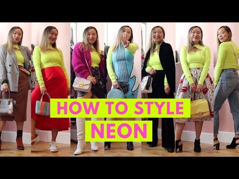 HOW TO STYLE NEON: 7 Neon Outfit Ideas | How To Wear Neon Trend