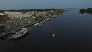 Washington NC waterfront dji Phantom 3 advanced flyby