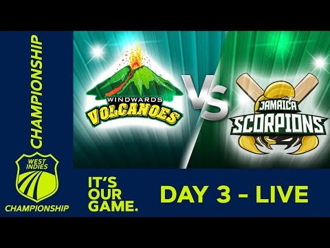 Windwards v Jamaica - Day 3 | West Indies Championship | Saturday 19th January 2019