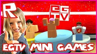Playing EthanGamerTV Minigames / Roblox