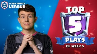 Top 5 Plays of CRL West Week 5! | Clash Royale League