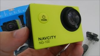 CAMERA ESPORTIVA NAVCITY NG-100 12MP FULL HD - UNBOXING