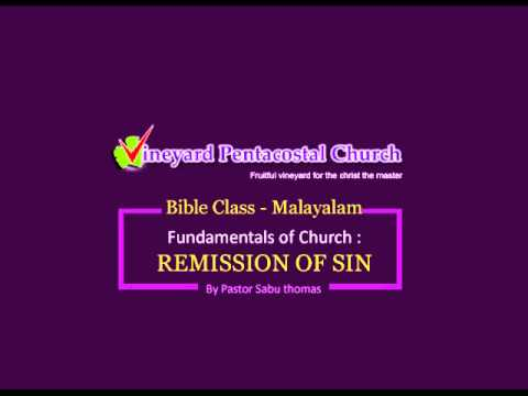 Download Remission of Sin Part I - Bible Class in Malayalam