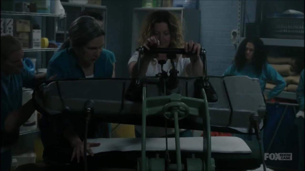 Download Lou burned Joan's hand on the steampresse !! season 9 episode 7 - wentworth