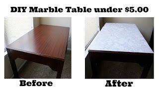 DIY Marble Table under $5.00