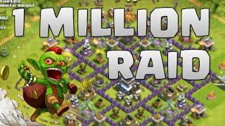 Clash of clans- Over 1mil of loot and thank you