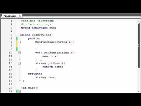 Buckys C++ Programming Tutorials - 14 - Constructors