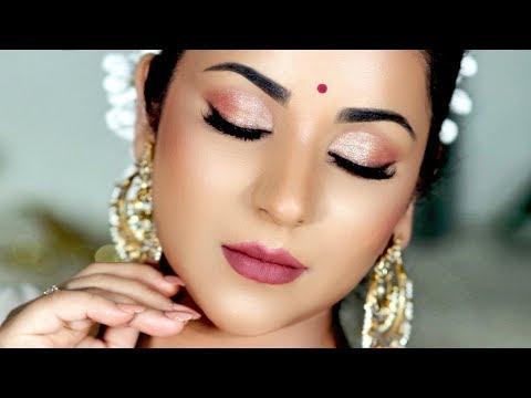 Diwali Makeup Tutorial 2019   Glowy skin, Sparkly eyes (and Giveaway #1) thumbnail