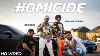 Homicide - Sidhu Moose Wala ( Official Song ) | Byg Bird | Latest Punjabi Song