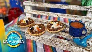 ¡Deliciosas Picaditas de frijolitos y longaniza! ¡A disfrutarlas! | Venga La Alegría