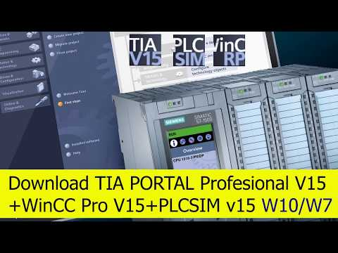 Download TIA PORTAL V15 for W10x64 or W7x64 | 2019 - YouTube