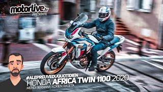 HONDA AFRICA TWIN 1100 DCT 2020 : BOULOT, RANDOS ET TUTO ELECTRO I TEST MOTORLIVE