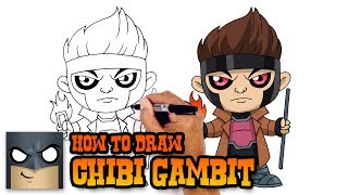 How to Draw Gambit - Xmen