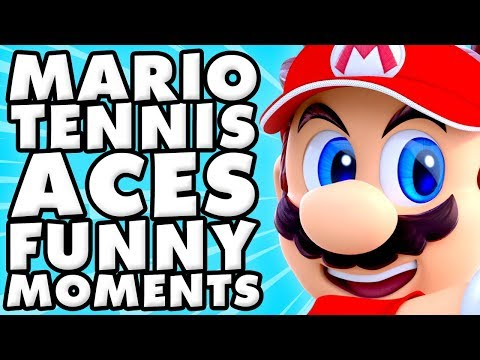 Mario Tennis Aces Funny Moments Montage!