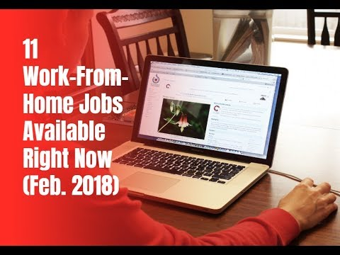 11 Work-From-Home Jobs Available Right Now (February 2018)