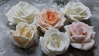 Как сделать РОЗЫ из мастики/ How to Make a Sugar Rose(Как сделать РОЗЫ из мастики для торта / How to Make a Sugar Rose., 2014-06-18T00:42:34.000Z)