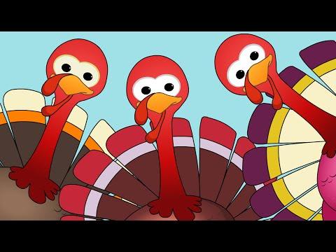 Five Little Turkeys  Turkey Song  Happy Thanks Giving