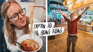 First Time Traveling to HONG KONG! - Goodbye Japan! 🇯🇵😭(Hiroshima to Hong Kong via HK Express)