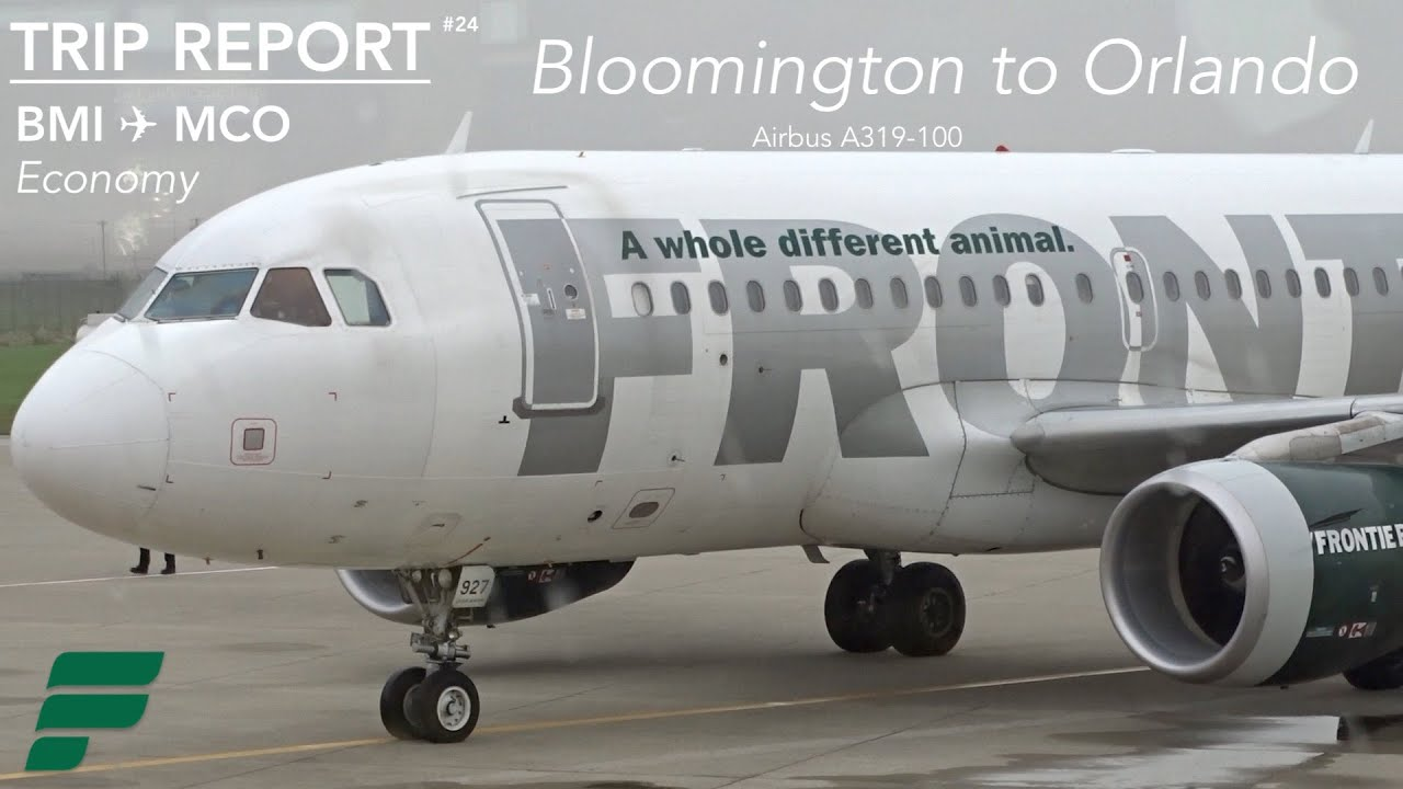 TRIP REPORT | Frontier Airlines | Bloomington to Orlando ...