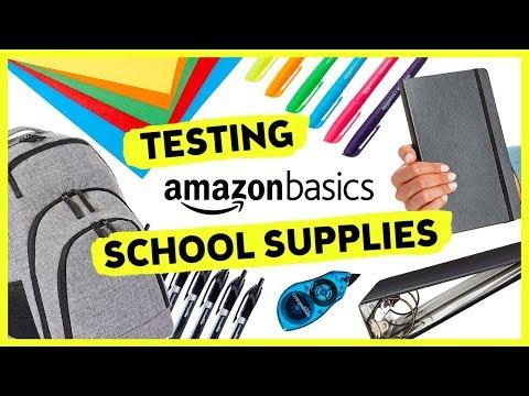 Trying AmazonBasics School Supplies | Sea Lemon