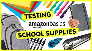 Trying AmazonBasics School Supplies | Sea Lemon