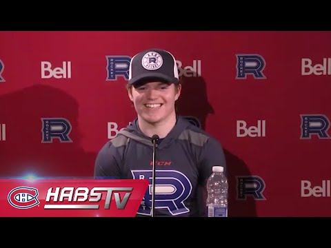 Cole Caufield's first press conference in Laval