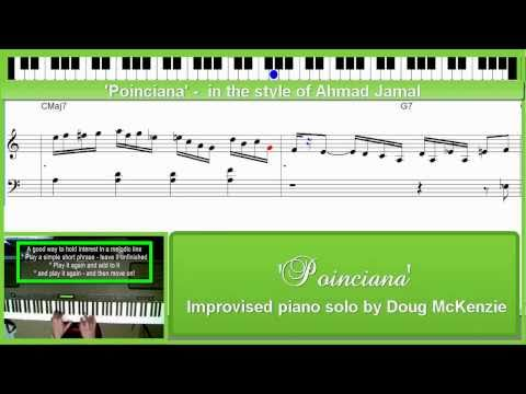 'Poinciana' - in the style of Ahmad Jamal - jazz piano tutorial