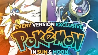 Every Version Exclusive Pokémon in Sun and Moon