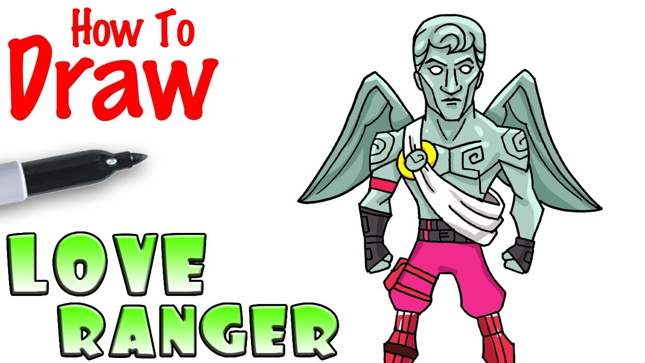 How To Draw The Love Ranger Fortnite Youtube