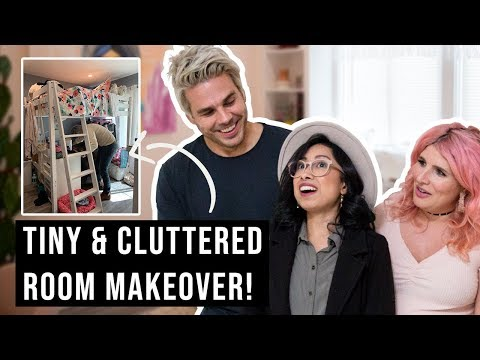 Tiny and Cluttered Bedroom Makeover!